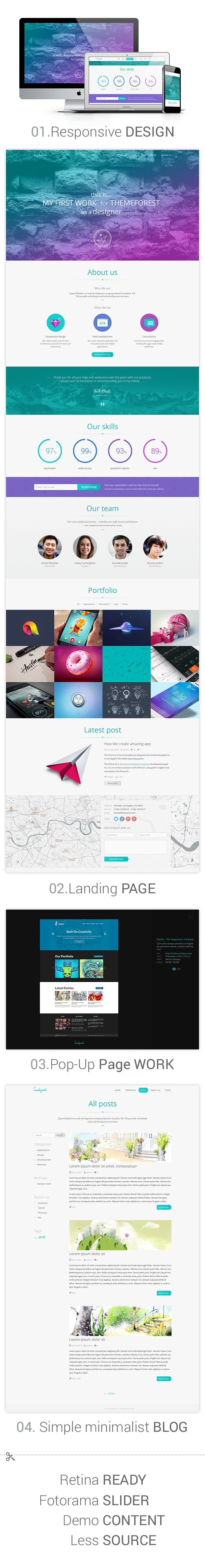 Ledgard WP - Clean Responsive Landing Page + Blog
